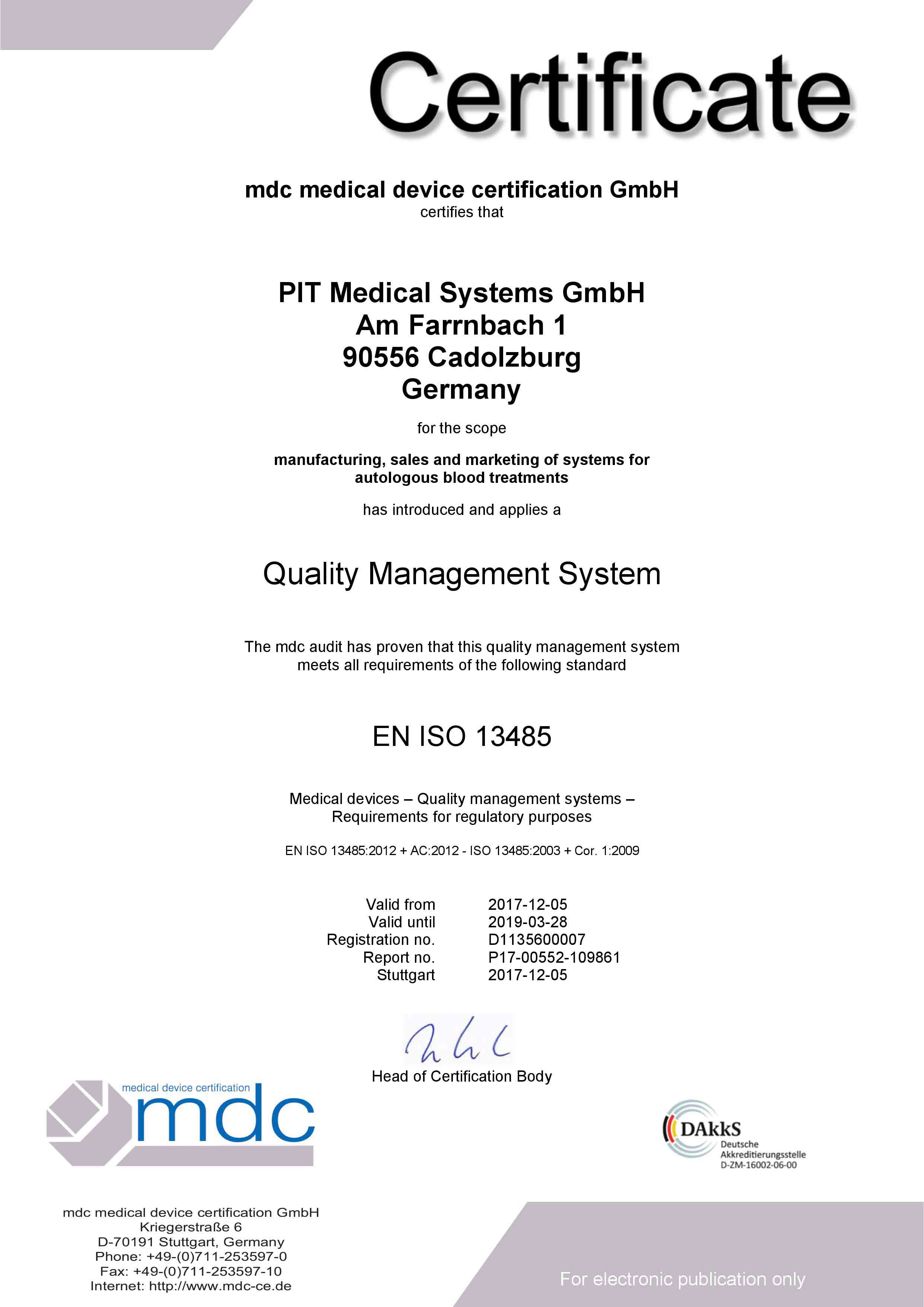 ISO 13485 UVA PIT SYSTEM